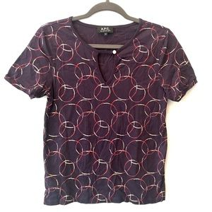 A.P.C pattern short sleeve top